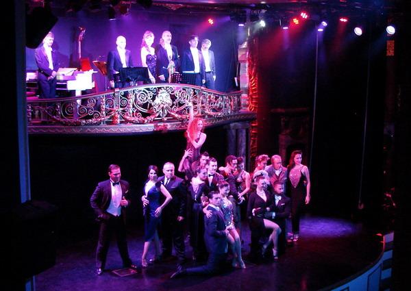 Esquina Carlos Gardel Tango Show dancers and Tango orchestra